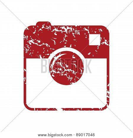 New red grunge camera logo