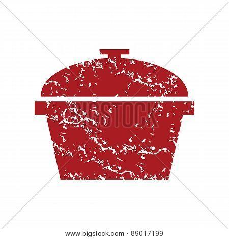 Red grunge pan logo