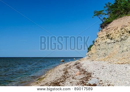 Panga Cliff, Highest Bluff Of Saarema Island, Estonia