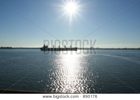 Ship On St-Lawrence River