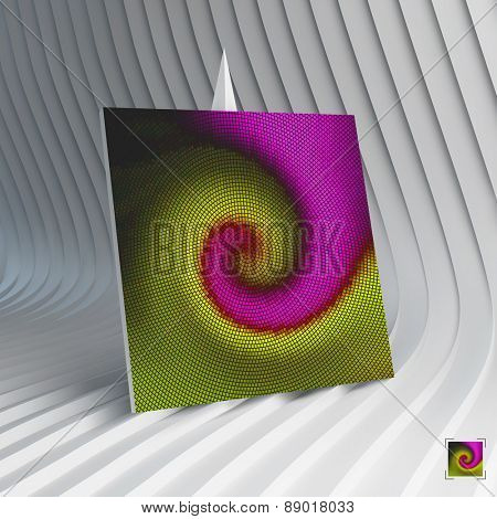 Business card. Abstract mosaic background. 3d vector illustration. Can be used for advertising, marketing, presentation.