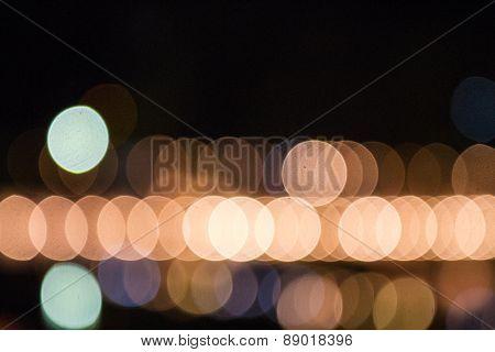 Bokeh Lights Of Night Background