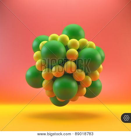 3D structure vector Illustration. Graphic design. Can be used for presentations, web design.