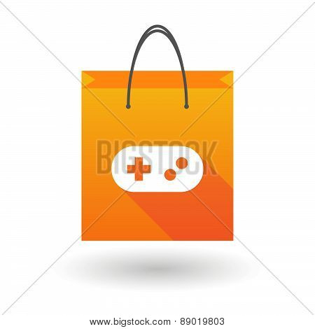 Shopping Bag Icon With A Game Pad Sign
