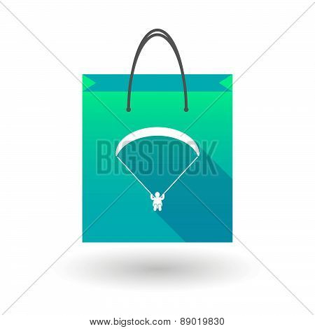 Shopping Bag Icon With A Paraglider
