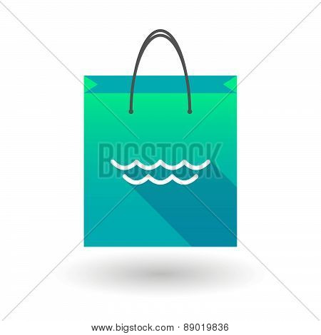 Shopping Bag Icon With A Sea Sign