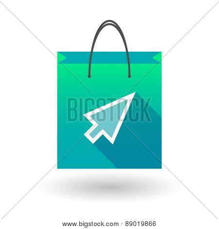 Shopping Bag Icon With A Pointer
