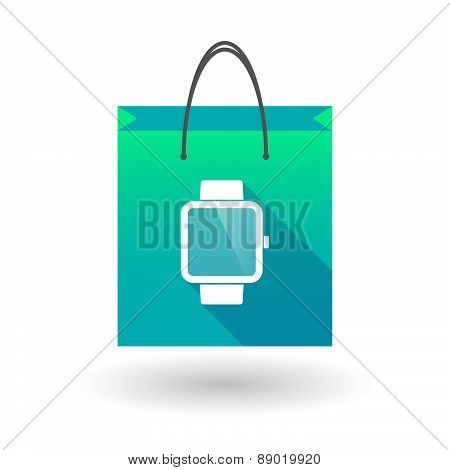 Shopping Bag Icon With A Smart Watch