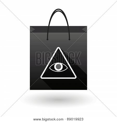 Shopping Bag Icon With An All Seeing Eye