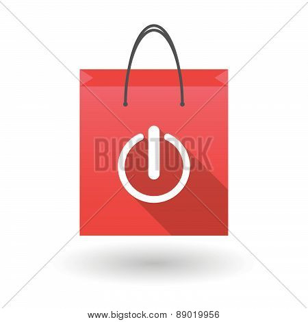 Shopping Bag Icon With An On Off Sign