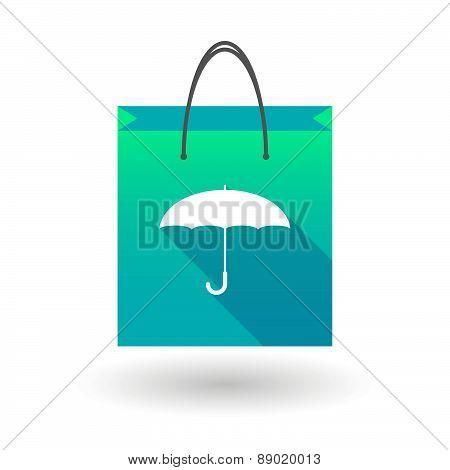Shopping Bag Icon With An Umbrella