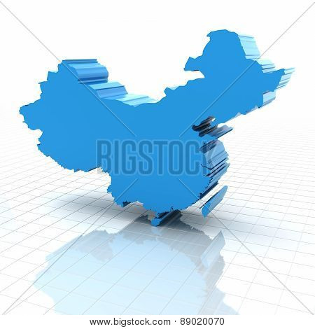 Extruded map of China