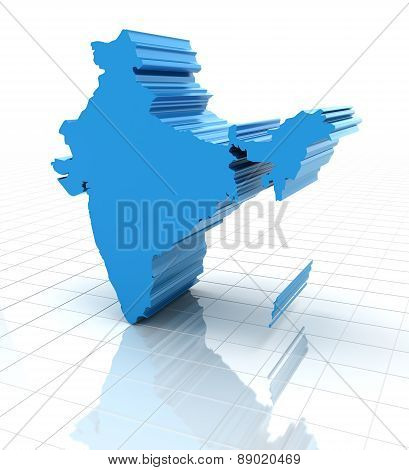 Extruded map of India