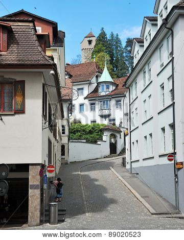 View of the street of Luzerne