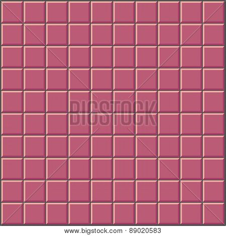 Wall Withpink Red Tiles Pattern