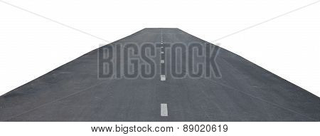 Road with median strip