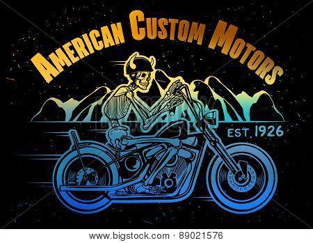 Skeleton Rider Motorcycle