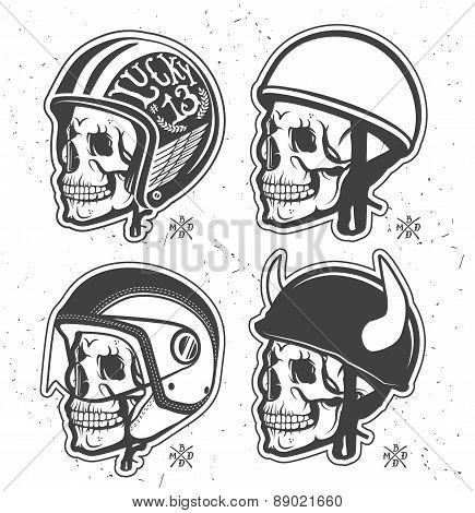 Helmets set.