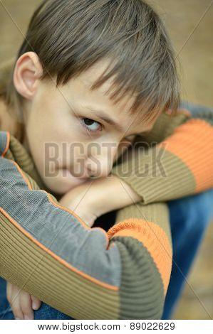 Little sad boy