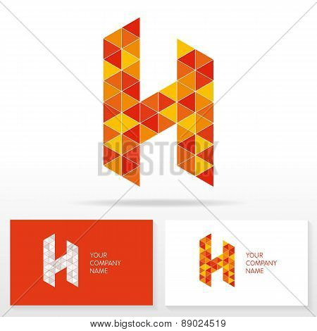 Letter H logo icon design template elements - Illustration.