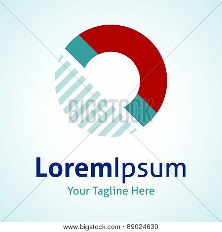 Magnet invisible force physics law vector logo icon