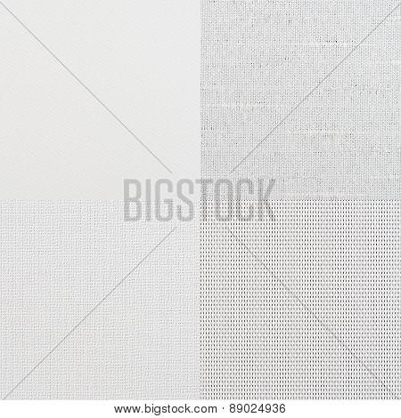 Set Of White Vinyl Samples