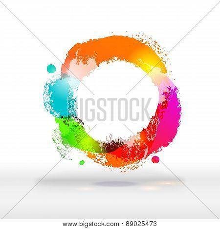Modern Festive Bright Colorful Buble