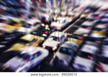 Car Parking Taxi Cab Moving Blurred Background