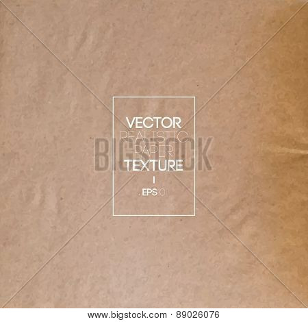 Vintage Realistic Textured Paper Background