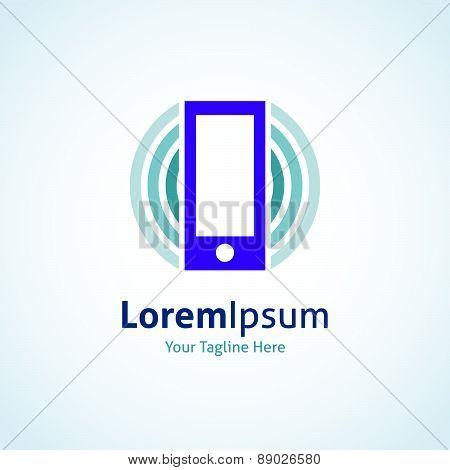 Phone technology internet application vector logo icon