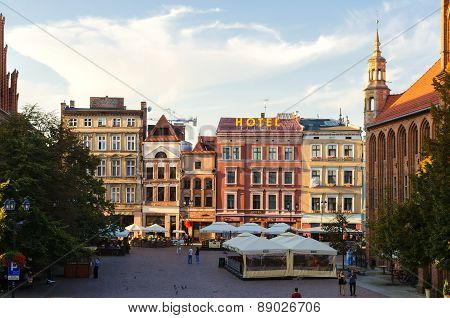 The Old Town Square in Torun, Poland.