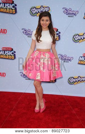 LOS ANGELES - APR 25:  Olivia Stuck at the Radio DIsney Music Awards 2015 at the Nokia Theater on April 25, 2015 in Los Angeles, CA