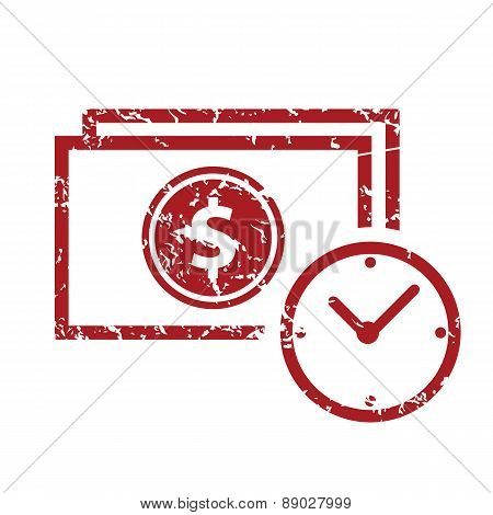 Red grunge buck time logo