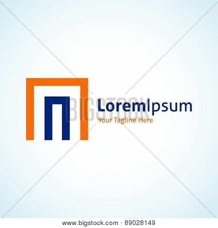 Dimension tech door of business entrepreneur system vector logo icon