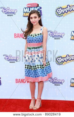 LOS ANGELES - APR 25:  Rowan Blanchard at the Radio DIsney Music Awards 2015 at the Nokia Theater on April 25, 2015 in Los Angeles, CA