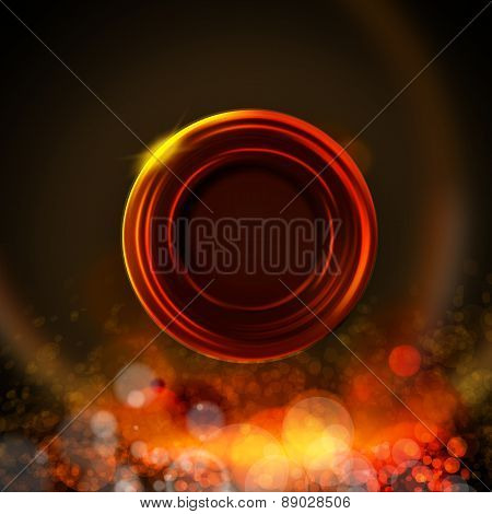 Dark Background With Circle Label, Fire Colors