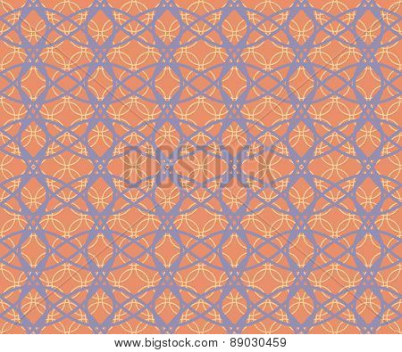 Abstract Seamless Fabric Retro Pattern Of Intersecting Hoops