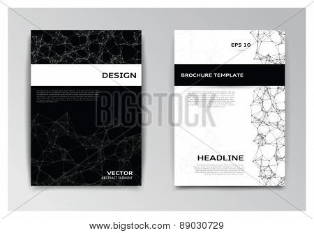 Templates Of Brochure With Abstract Elements