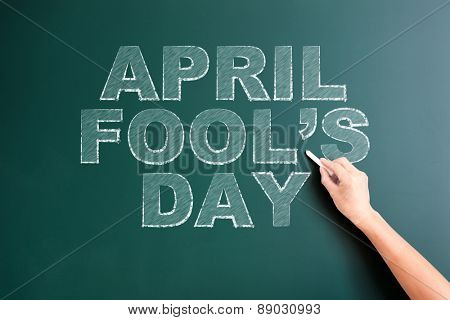 writing april fools day on blackboard