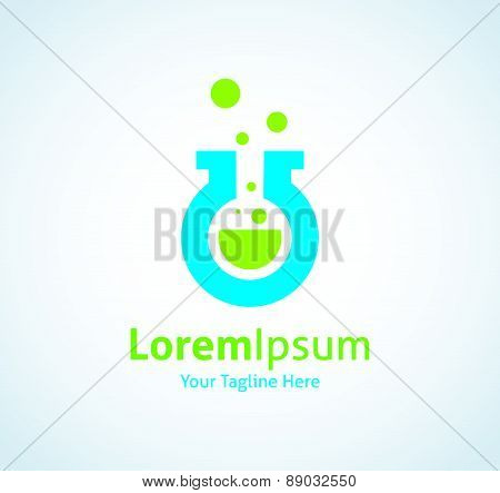 Magic potion green cure liquid medical care vector logo icon