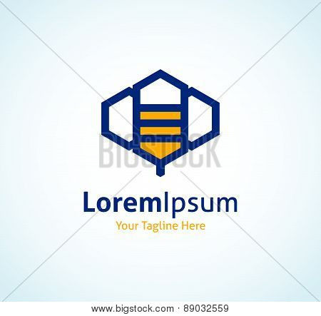 Abstract technology app bee perfection vector logo icon