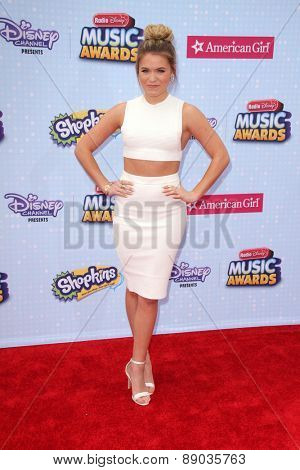 LOS ANGELES - APR 25:  Tiffany Stringer at the Radio DIsney Music Awards 2015 at the Nokia Theater on April 25, 2015 in Los Angeles, CA