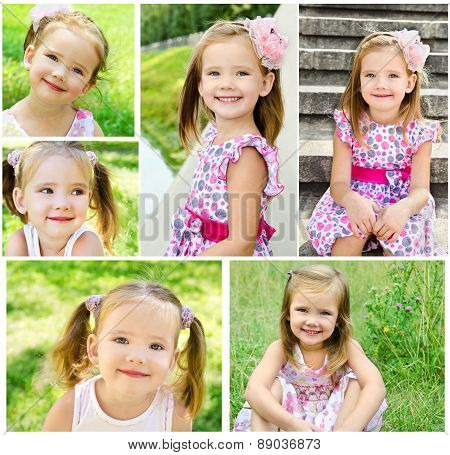 Collection Of Photos Portrait Of Adorable Smiling Little Girl