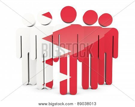 People With Flag Of Bahrain