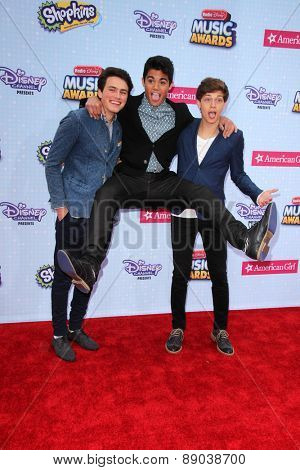 LOS ANGELES - APR 25:  Forever In Your Mind at the Radio DIsney Music Awards 2015 at the Nokia Theater on April 25, 2015 in Los Angeles, CA