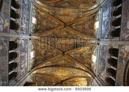 Ceiling Romanesque Cathedral In Parma