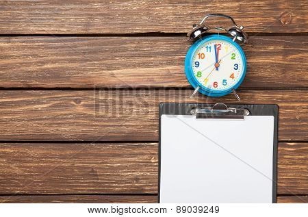 Alarm Clock And Business Tablet