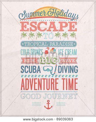 Summer Holiday Poster.