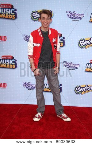 LOS ANGELES - APR 25:  Dylan Riley Snyder at the Radio DIsney Music Awards 2015 at the Nokia Theater on April 25, 2015 in Los Angeles, CA
