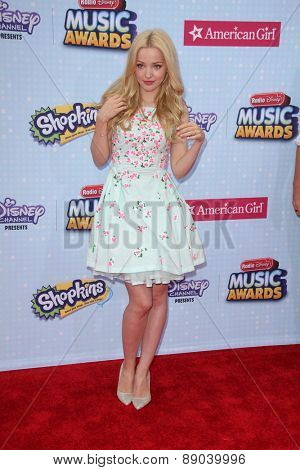 LOS ANGELES - APR 25:  Dove Cameron at the Radio DIsney Music Awards 2015 at the Nokia Theater on April 25, 2015 in Los Angeles, CA